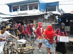 PC. IMM Sibolga - Tapteng menggalang dana untuk korban bencana Gunung Sinabung, Kab. Karo